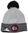 "Chicago Blackhawks New Era NHL ""Heathered Pom"" Cuffed Knit Hat with Pom"