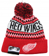 "Detroit Red Wings New Era NHL ""Wintry Pom"" Cuffed Knit Hat with Pom"