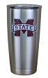 Mississippi State Bulldogs NCAA Stainless Steel Insulated 20oz Tumbler - Silver
