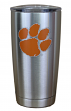 Clemson Tigers NCAA Stainless Steel Insulated 20oz Tumbler - Silver