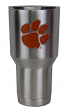 Clemson Tigers NCAA Stainless Steel Insulated 30oz Tumbler - Silver