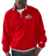 "Ohio State Buckeyes NCAA Starter ""The Player"" 1/2 Zip Pullover Nylon Jacket"