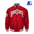 "Ohio State Buckeyes NCAA Starter ""The Captain"" Premium Button-Up Polyfill Jacket"