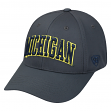 "Michigan Wolverines NCAA Top of the World ""Fresh"" Adjustable Charcoal Hat"