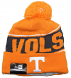 "Tennessee Volunteers New Era NCAA ""Team Chant"" Cuffed Knit Hat with Pom"