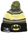 "Batman DC Comics New Era ""Wintry Pom"" Cuffed Knit Hat with Pom"