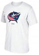 "Columbus Blue Jackets Reebok NHL ""Jersey Crest"" Men's Short Sleeve White T-Shirt"