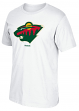 "Minnesota Wild Reebok NHL ""Jersey Crest"" Men's Short Sleeve White T-Shirt"