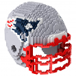 New England Patriots NFL BRXZL 1378 Piece 3-D Construction Toy Football Helmet