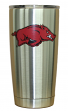 Arkansas Razorbacks NCAA Stainless Steel Insulated 20oz Tumbler - Silver