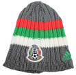 Mexico National Soccer Futbol Team Adidas Woven Striped Cuffless Knit Hat