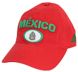 Mexico National Soccer Futbol Team Adidas Slouch Adjustable Hat - Red