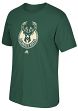 Milwaukee Bucks Adidas NBA Men's Primary Logo Short Sleeve Green T-Shirt