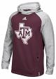 Texas A&M Aggies Adidas 2016 Sideline Climalite Player Hooded Sweatshirt