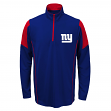 New York Giants Youth NFL Lightweight 1/4 Zip Pullover Long Sleeve Shirt
