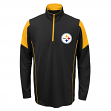 Pittsburgh Steelers Youth NFL Lightweight 1/4 Zip Pullover Long Sleeve Shirt