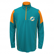 Miami Dolphins Youth NFL Lightweight 1/4 Zip Pullover Long Sleeve Shirt
