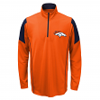 Denver Broncos Youth NFL Lightweight 1/4 Zip Pullover Long Sleeve Shirt