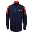 New England Patriots Youth NFL Lightweight 1/4 Zip Pullover Long Sleeve Shirt