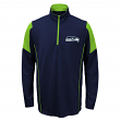 Seattle Seahawks Youth NFL Lightweight 1/4 Zip Pullover Long Sleeve Shirt