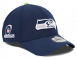 Seattle Seahawks New Era NFL 39THIRTY Team Classic Playoff Patch Flex Fit Hat