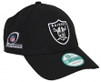 Oakland Raiders New Era 9Forty NFL The League Playoff Patch Adjustable Black Hat