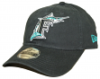 Florida Marlins New Era 9Twenty MLB Core Classic Adjustable Hat - Black