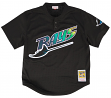Wade Boggs Tampa Bay Devil Rays Mitchell & Ness Authentic 1998 Black BP Jersey