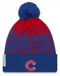 Chicago Cubs New Era 2017 MLB Official On Field Sport Knit Hat - Blue Cuff