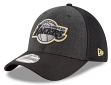 "Los Angeles Lakers New Era NBA 39THIRTY ""Heathered Black Neo"" Flex Fit Hat"