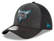 "Charlotte Hornets New Era NBA 39THIRTY ""Heathered Black Neo"" Flex Fit Hat"