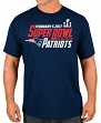"New England Patriots Majestic NFL Super Bowl LI 51 ""Hash Mark"" S/S Men's T-Shirt"