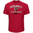 "Atlanta Falcons Majestic NFL Super Bowl LI 51 ""Destination"" S/S Men's T-Shirt"