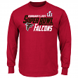 "Atlanta Falcons Majestic NFL Super Bowl LI 51 ""Hash Mark"" L/S Men's T-Shirt"