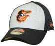 "Baltimore Orioles New Era MLB 39THIRTY ""Heathered Gray Neo"" Flex Fit Hat"