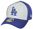 "Los Angeles Dodgers New Era MLB 39THIRTY ""Heathered Gray Neo"" Flex Fit Hat"