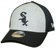 "Chicago White Sox New Era MLB 39THIRTY ""Heathered Gray Neo"" Flex Fit Hat"