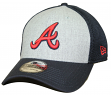 "Atlanta Braves New Era MLB 39THIRTY ""Heathered Gray Neo"" Flex Fit Hat"