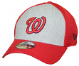 "Washington Nationals New Era MLB 39THIRTY ""Heathered Gray Neo"" Flex Fit Hat"