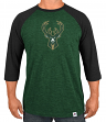 "Milwaukee Bucks Majestic NBA ""Excellent Attitude"" Men's 3/4 Sleeve T-Shirt"