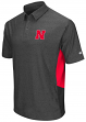 "Nebraska Cornhuskers NCAA ""The Bro"" Men's Performance Polo Shirt - Charcoal"