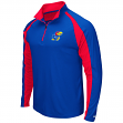 "Kansas Jayhawks NCAA ""Peterman"" 1/4 Zip Pullover Men's Wind Shirt"
