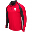 "Nebraska Cornhuskers NCAA ""Peterman"" 1/4 Zip Pullover Men's Wind Shirt"