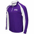 "TCU Horned Frogs NCAA ""Peterman"" 1/4 Zip Pullover Men's Wind Shirt"