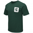 "Michigan State Spartans NCAA ""Banya"" Men's Dual Blend S/S Pocket T-Shirt"