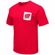 "Wisconsin Badgers NCAA ""Banya"" Men's Dual Blend S/S Pocket T-Shirt"