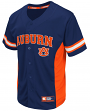 "Auburn Tigers NCAA ""Strike Zone"" Men's Button Up Baseball Jersey"