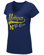 "Michigan Wolverines Women's NCAA ""How You Doin'"" Dual Blend V-neck T-Shirt"