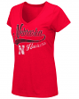"Nebraska Cornhuskers Women's NCAA ""How You Doin'"" Dual Blend V-neck T-Shirt"