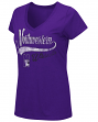 "Northwestern Wildcats Women's NCAA ""How You Doin'"" Dual Blend V-neck T-Shirt"